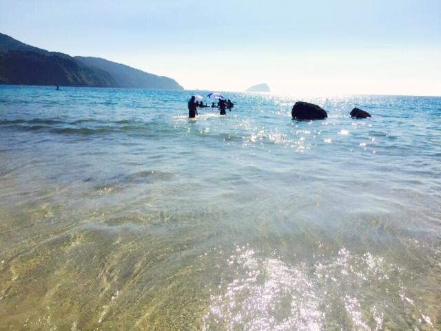 夏の九十九里浜ビーチの様子