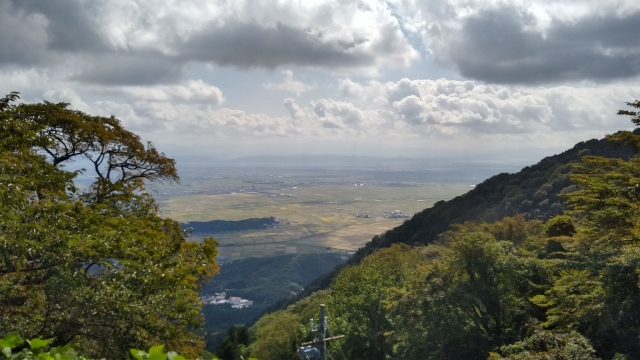 弥彦山からの景色